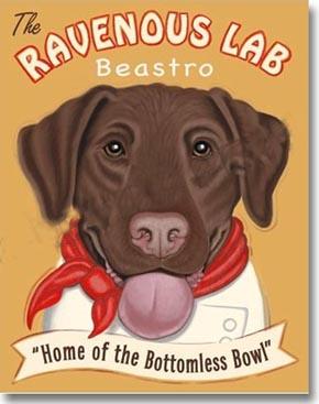 Chocolate lab chocolate lab art print ravenous lab beastro labrador
