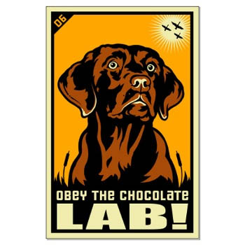 Chocolate Lab Puppy Power : OtterTail Art for Dog Lovers