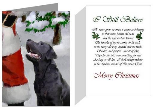 Black Labrador Christmas Ornaments