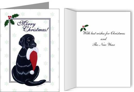 Labrador Retriever Christmas Cards Ornaments Decor