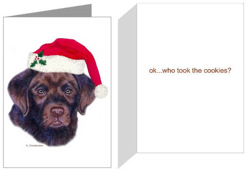 Chocolate lab puppy gifts for christmas