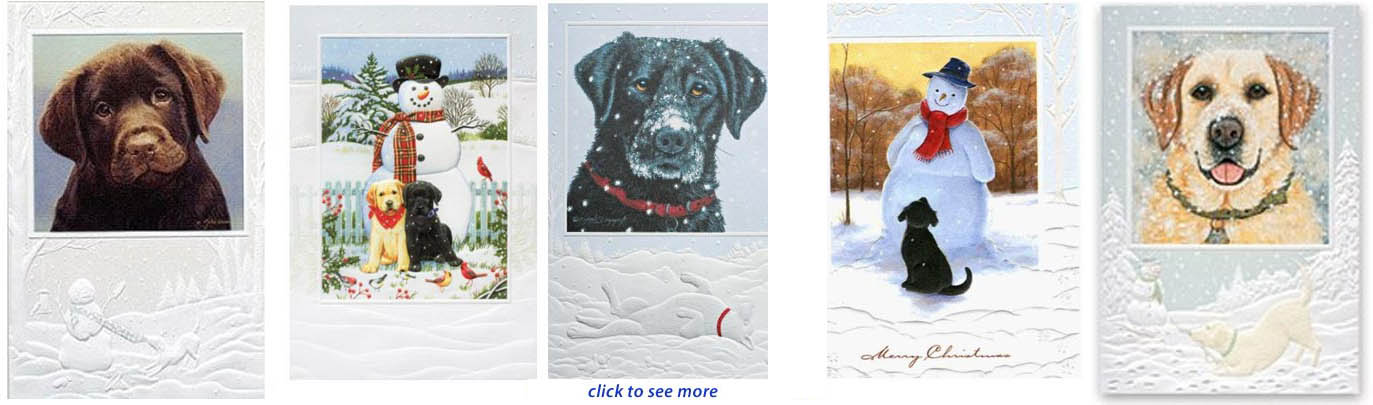 Labrador Retriever Christmas Cards, Ornaments & Decor