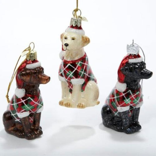 glass labrador christmas ornaments - Labrador Outdoor Christmas Decoration