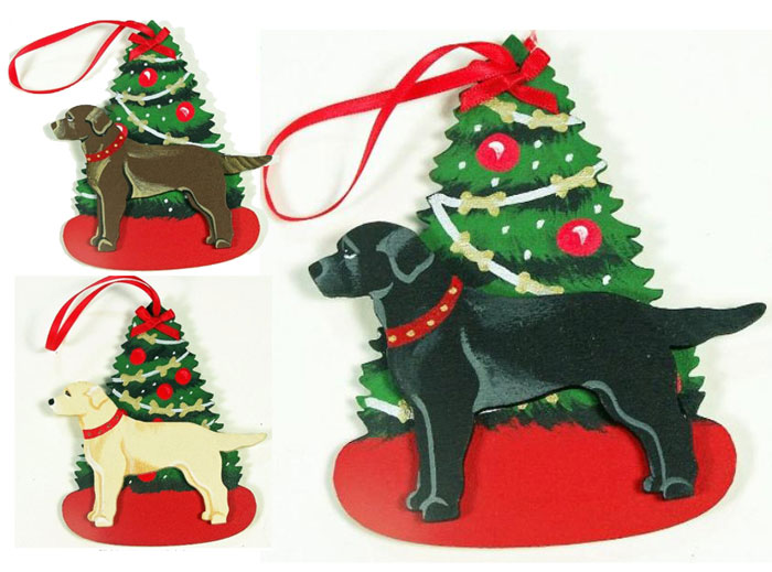 Labrador Christmas Tree Ornaments