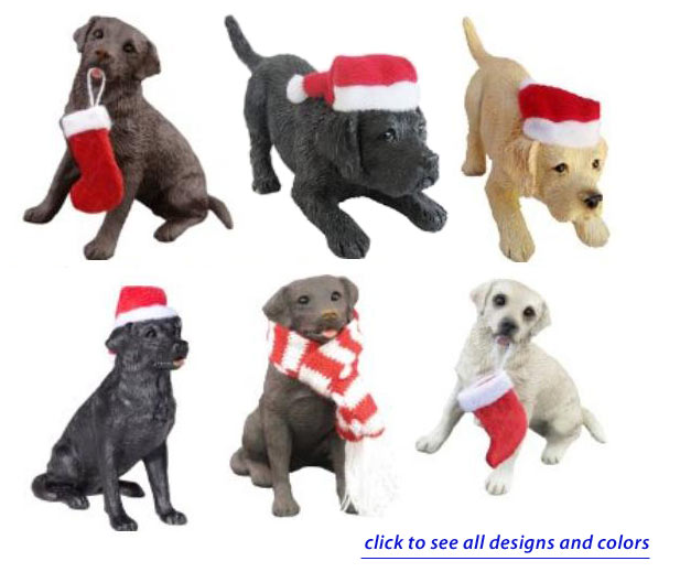 Sandicast Labrador Christmas Ornaments