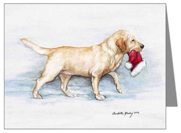 yellow labrador christmas cards - Animal Christmas Cards