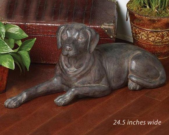 Chocolate Labrador Retriever Figurine