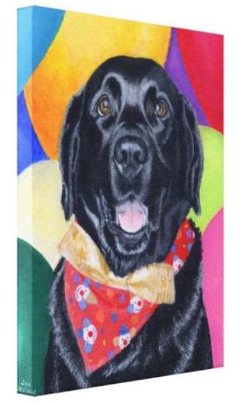 Labrador retriever dog art  poster gift modern folk  4x6  cell  GLOSSY PRINT