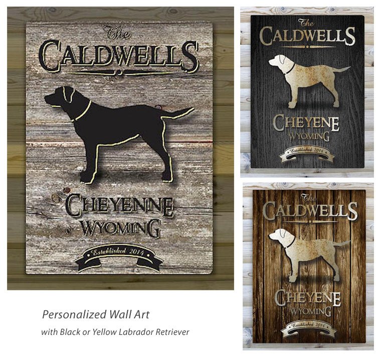 Personalized Wall Art With Labrador Retriever