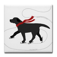 black lab skating