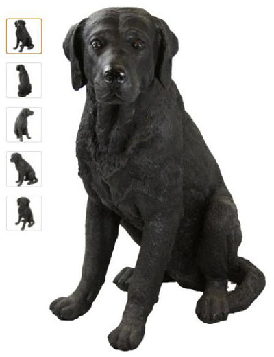 Labrador Retriever Garden Statue Black Lab