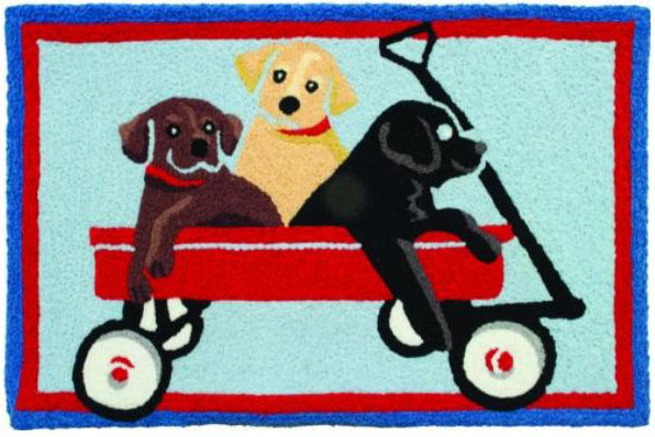 labrador puppies decorative mat